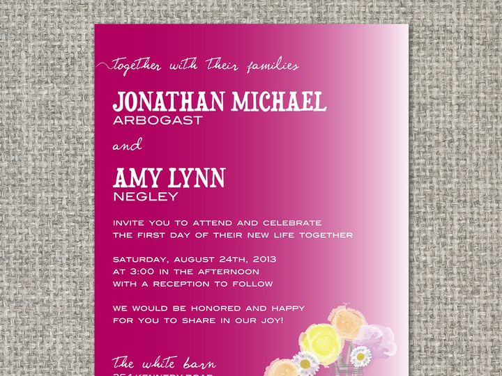 Tmx 1460156321544 Amyinvitation Middleburg, PA wedding invitation