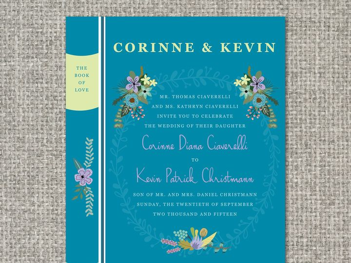 Tmx 1460156352164 Corinneinvitation Middleburg, PA wedding invitation