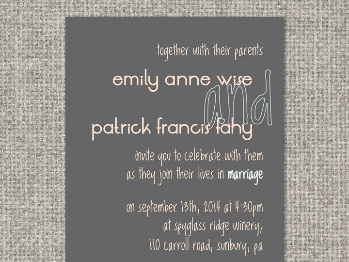 Tmx 1460156383947 Emilyinvitation Middleburg, PA wedding invitation