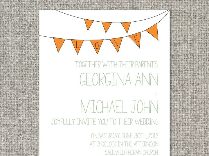 Tmx 1460156400263 Ginainvitation Middleburg, PA wedding invitation