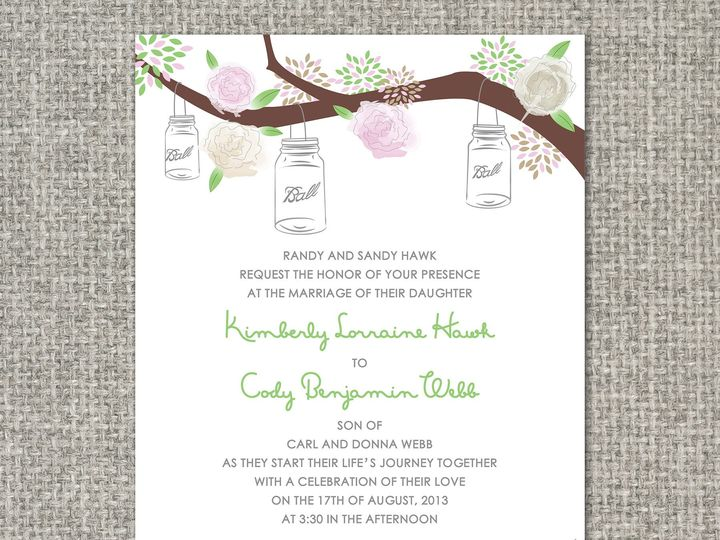 Tmx 1460156489713 Kimberlyinvitation Middleburg, PA wedding invitation