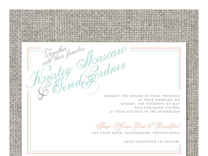Tmx 1460156527910 Kristeyinvitation Middleburg, PA wedding invitation