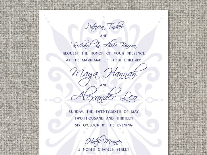 Tmx 1460156591864 Mayainvitation Middleburg, PA wedding invitation