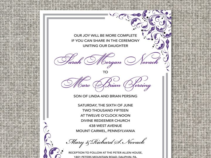 Tmx 1460156645803 Sarahinvitation Middleburg, PA wedding invitation