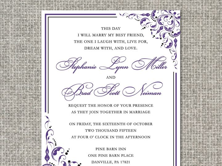Tmx 1460156678861 Stephanieinvitation Middleburg, PA wedding invitation