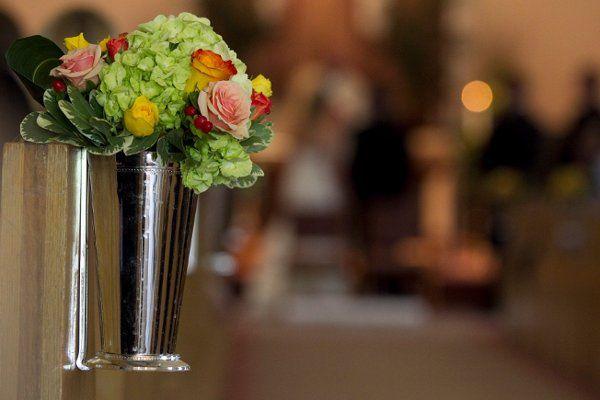 Sample aisle floral decoration
