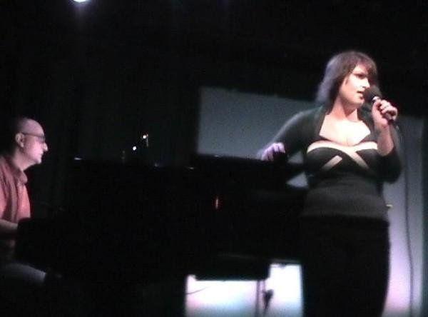 Rachel singing Off-Broadway