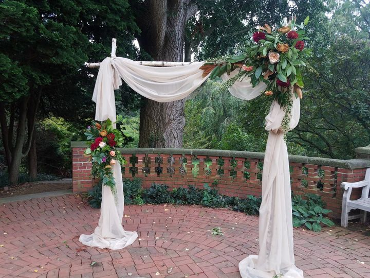 Rustic Ceremony draping