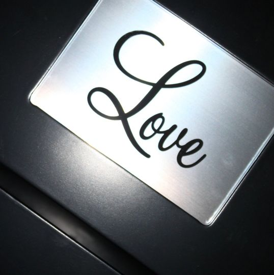 LoveplateinBlackWeddingCardBox