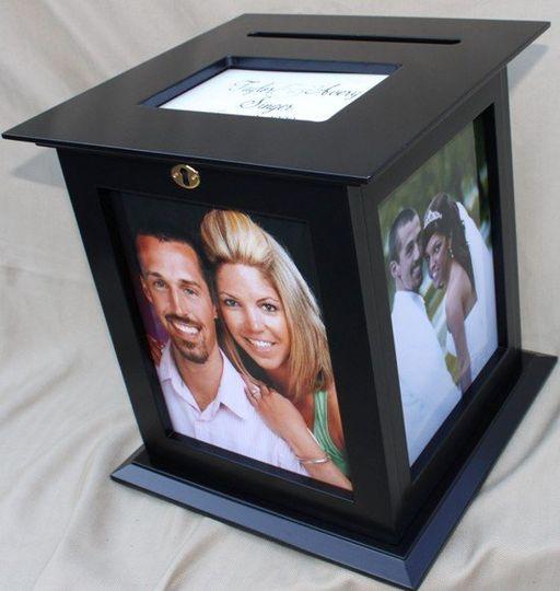 Card Holders for Weddings in Black