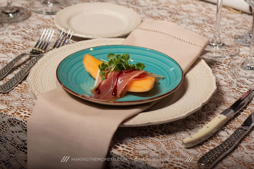Plated Melon + Proscuitto
