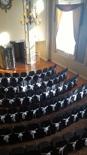 Black ceremony chairs