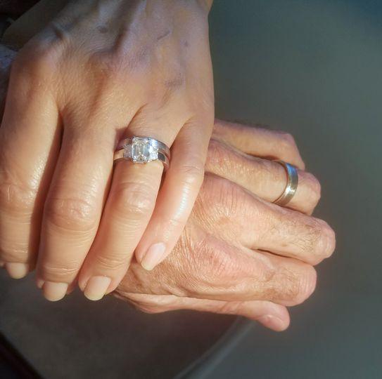 Wedding Band with Diamond Ring