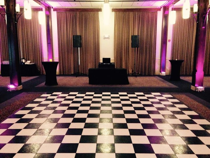 DJ set up and dance floor