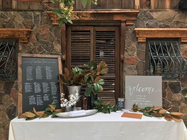 Calistoga, CA Welcome Table with Nicki signage
