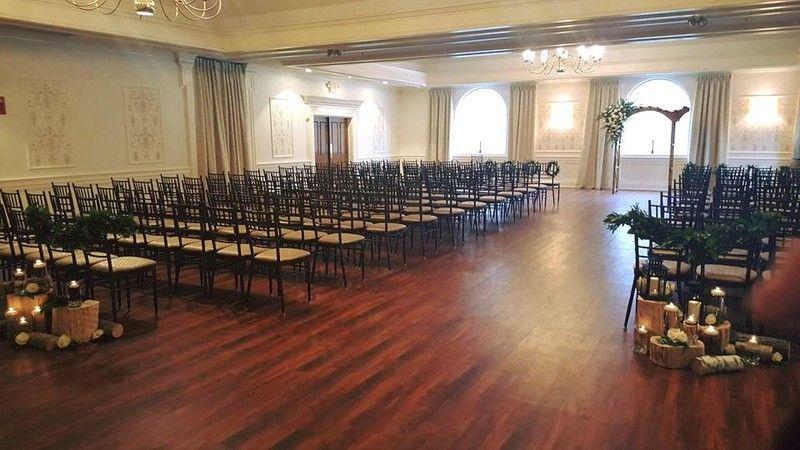 Wedding venue setup inside