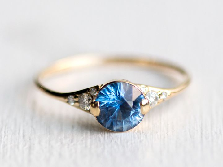 Tmx 1498666468721 2017ladys Slipper Ringygbrightbluesapphire6mm2 North Andover, MA wedding jewelry