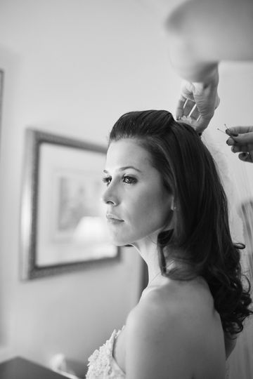 Bride's final preparations - Argyle