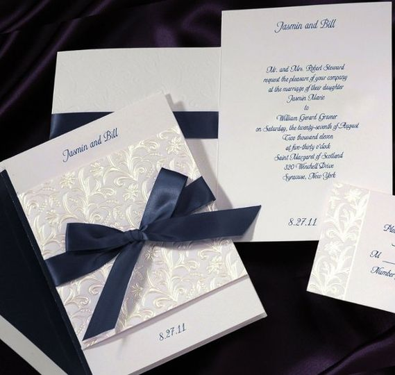 Midnight Ribbon Invitation