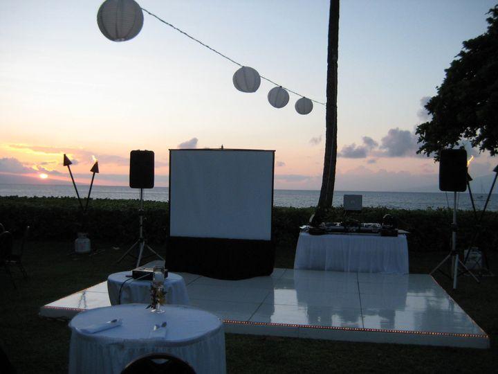 8 ft video screen set up at Royal Lahaina Hotel
