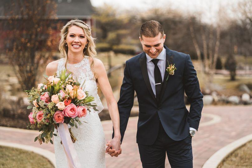 Sleek wedding style