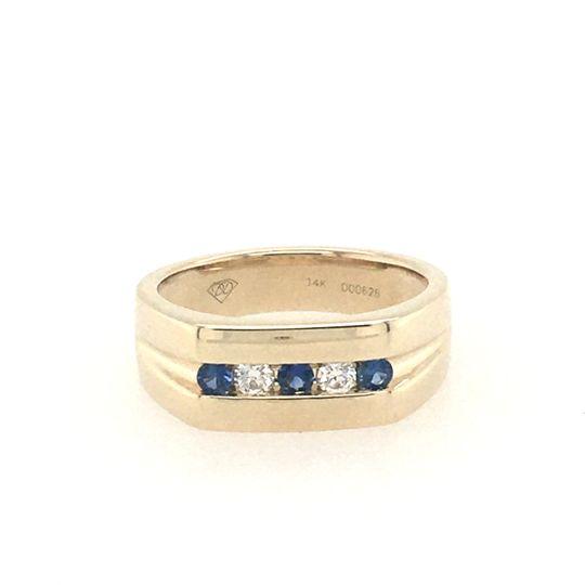 Custom sapphire wedding band