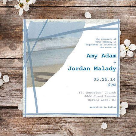 Coastal Cool Wedding Invitations | Oubly.com