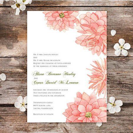 Dreamy Dahlias Wedding Invitations | Oubly.com