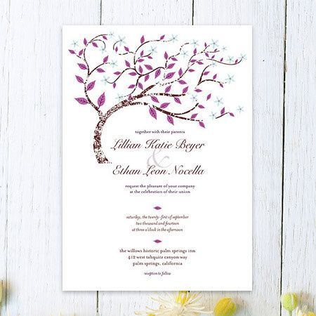Forever Fall Wedding Invitation
