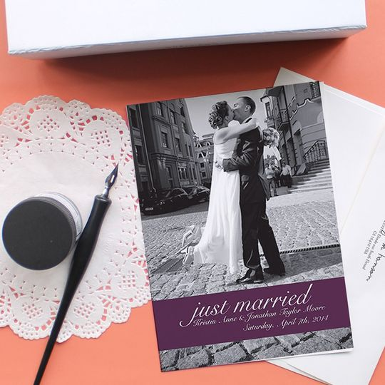 Floral Affair Wedding Annoucements | Oubly.com