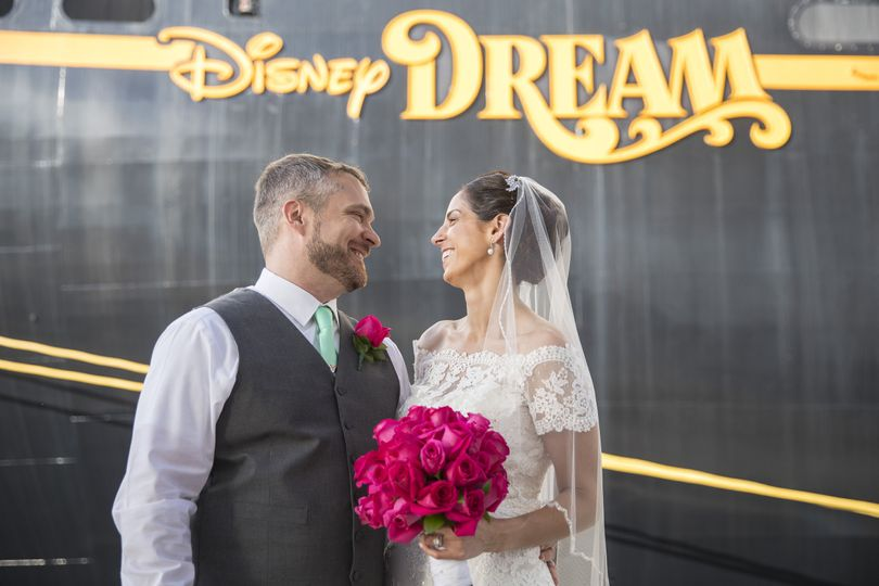 Bride & Groom Destination Wedding on Disney Dream, Disney Cruise Line