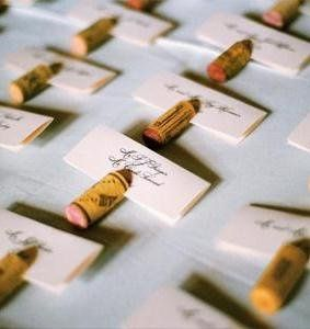Place cards done for a wedding at a winery