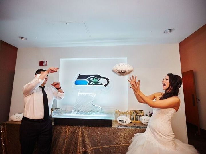 Tmx 1506621692717 Bridal Couple With Seahawks Ice Sculpture Seattle, WA wedding venue