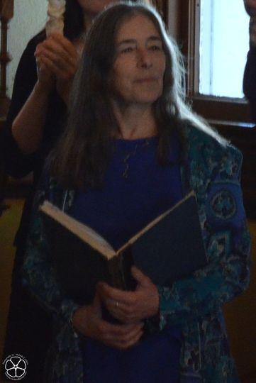 Judith Seid officiating