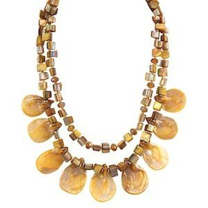 """Adah Necklace Item #: 10233 Genuine Mother Of Pearl. 17-19.5"""" Necklace with 2"""" Drop."""