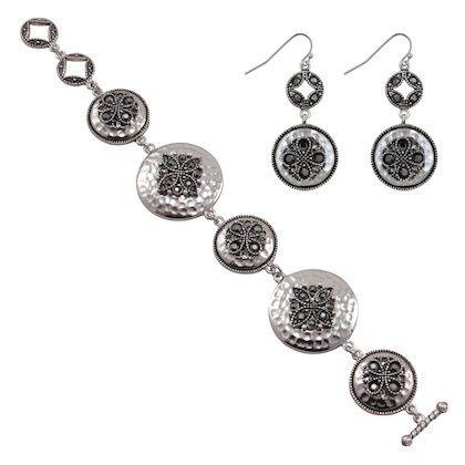Penelope Set Item #: 50117 Bracelet & Earrings Set