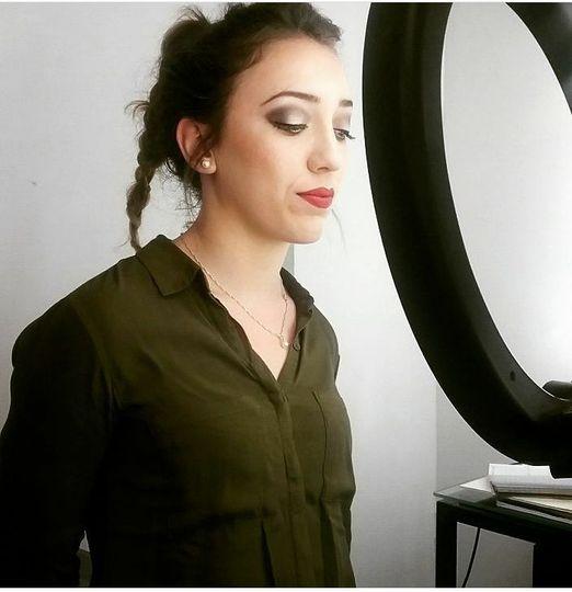 Wedding trial night makeup.