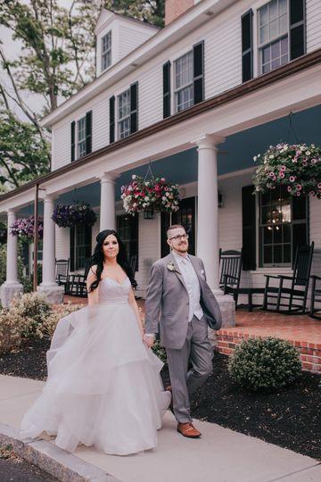 Couple infront of Groton Inn