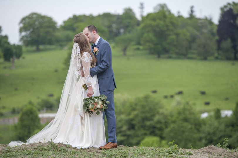 Couple in front of Gibbet Hill