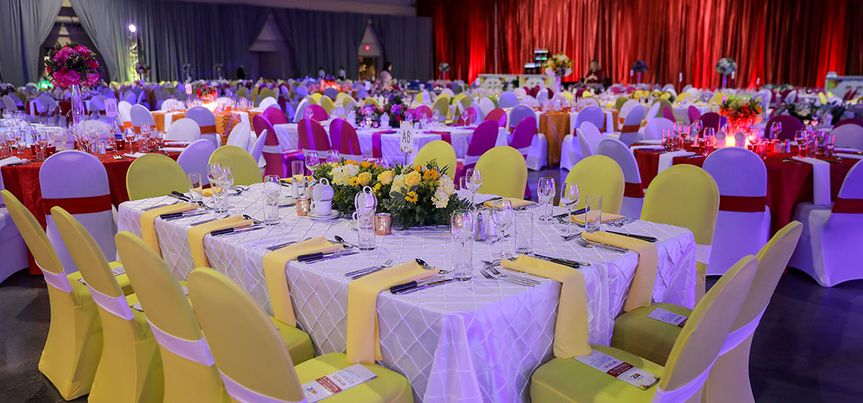 Detailed linens and chair covers