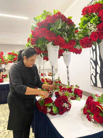 Working on Red roses