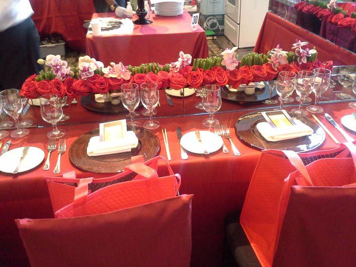 Dinner setup and floral decor