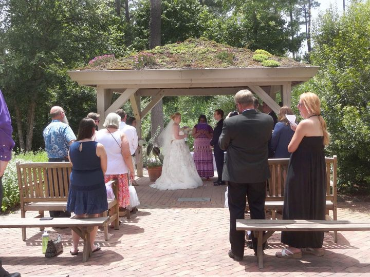 Garden wedding in the Green Roof pavilion