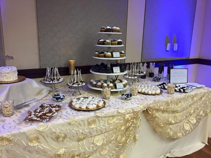 Black & Gold Dessert Table