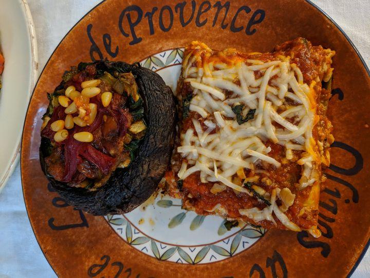 Veggie Mushroom & Lasagna