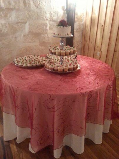 gardner wedding cake table