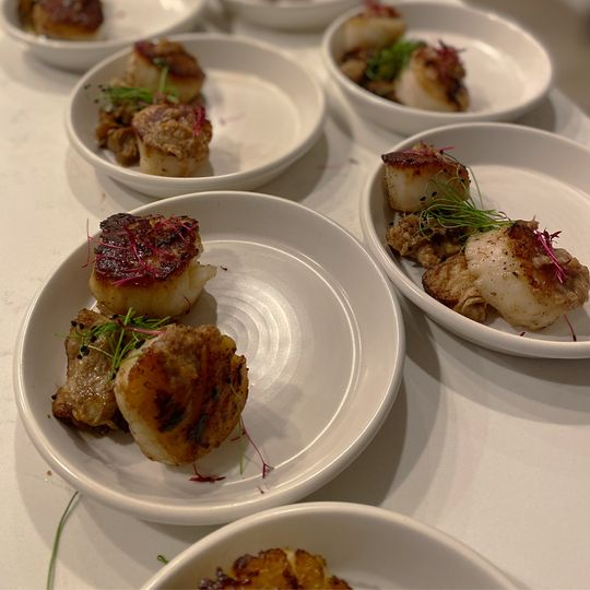 Mouthwatering scallops