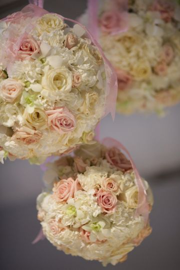 Rose ball decor