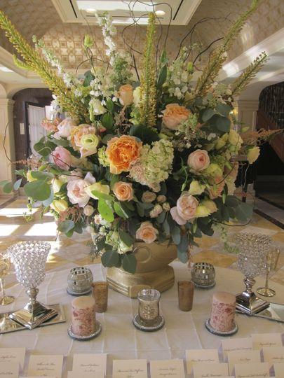 Elaborate flower arrangement