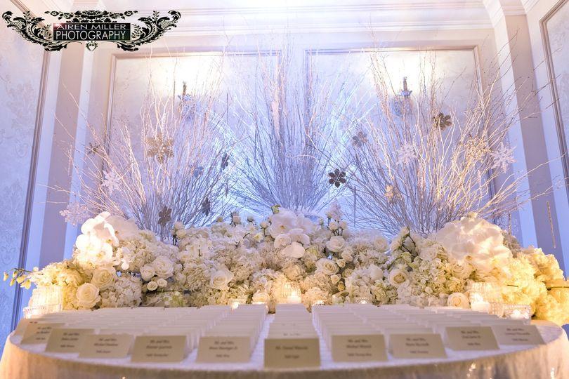 White themed wedding